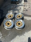 14 Vintage Gold Wheels Rims Alloy Mag American Racing Outlaw 2 Modular