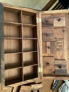 Napastyle Wooden Spice Box 10 Sections Spices-teas 14 1/4 L X 6 W Herbs
