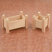 1pc Outdoor 1/12 Wooden Flower Stand Rack Model Doll House Accessories