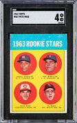 1963 Topps Rookie Stars Pete Rose 537 Rookie Card - Sgc 4 Vg-ex 🔥eye Apppeal🔥