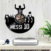 The King 10 Lionel Messi Vinyl Led Wall Clock Argentina Football Player Decor