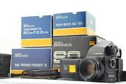 Rare【 Unused 】 Zenza Bronica Sq 80mm F/2.8 Sp 120 Film Back X2 From Japan 651