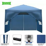 3x 3m Two Doors And Two Windows Practical Waterproof Right-angle Folding Tent Blue