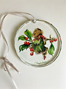 Marjolein Bastin Vera The Mouse Takes A Rest Round Cut Glass Ornament Beveled