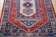 Exquisite New Yallamehh Tribal Hand Knotted Wool Birds Superb Oriental Rug 3x5