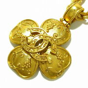 Necklace Clover Gold Metal Material