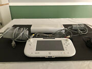 Nintendo Wii U White 8gb Console Bundle W/ Cables Wup-00102 Tested