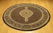 5 X 5 Hand Knotted High Quality Wool And Silk Round Rug _beautiful Colors And Design