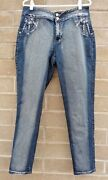 Jack David Womenand039s Jeans Size 16 Mid Rise Beaded Pockets