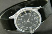 Vintage Timor Military Sub Second Pk-785 Winding Mens Watch-4