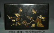 10 Ancient China Wood Inlay Shell Dynasty Flower Bird Jewelry Box Cabinet Chest