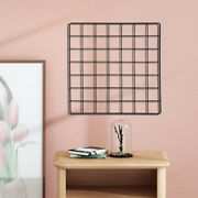 Wall Grid Panel Photo Picture Display Memo Board Shelf Living Room Cubicle
