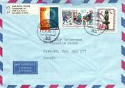 1990 West Germany Airmail Combo To Canada Stamps Issued Prior To Unification