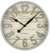 Large Farmhouse Wall Clock Rustic Round 20 Decorative Watch Country Home Decor
