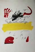 Antoni Tapies Al Mestres Catalunya Litography Signed And Numbered By Hand