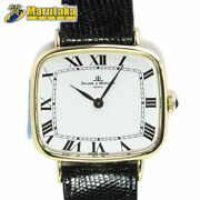 Baume And Mercier Watch K18 Square Type Case Manual Winding Menand039s Watch Antique