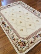 H215363 Royal Palace Anniversary Fleur De Lis 5and039 X 7and039 Wool Rug Ivory
