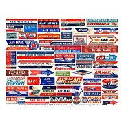Air Mail Label Stickers, Reproduction Stationary And Gift Making Stickers, 1 Sheet