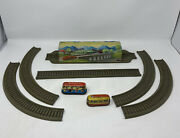 Vintage Wind Up Tin Lithograph Us Zone Germany Technofix Ghost Train Set