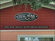 American Civil War Crossed Swords Collections Custom Personalized Sign 8x20 Inch