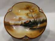 1921-1924 Antique Noritake Butter And Candy Dish. Handpainted Morimura House