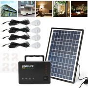 Solar Panel Generator System Portable Home Led Light Usb Charger Camping Lamp Us