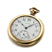 Waltham Waltham Pocket Watch White Dial Antique Menand039s Gp Gold Case 46mm