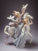 """The Art Of Porcelain """" Peace And Liberty """" Figurine 6707 By Lladro"""