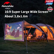 Camping Tunnel Tent 4-6 People 150d 4 Rods Outdoor Cinema With Screen Travel New
