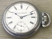 Hamilton Watch Antique Pocket Watch Silver White Small Seconds Authentic