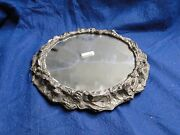 Silver Plated Wedding Cake Stand Antique Victorian 1850 Medium Sized Marked