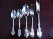Grecian Pattern Silver Plated Cutlery For 24 People Manoah Rhodes Antique