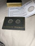 1902 And1907 Liberty Nickle With Coa And Hermitically Sealed