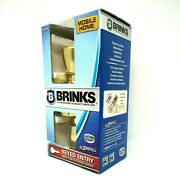 Brinks Keyed Entry Mobile Home Door Knob Brass Finish Bell Knob Style 2710-105