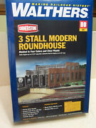 Ho Walthers Cornerstone 3 Stall Modern Roundhouse Kit