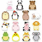 45 Pieces Cartoon Animal Sticky Notes Cute Cartoon Memo Page Markers Flags In...