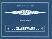 1924 Heisey Glassware Catalogue 102 Reprint - Patterns Model Numbers / Rare Book