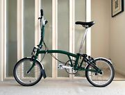 Brompton Folding Bike - M3l 2020 Racing Green Excellent Condition