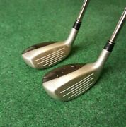 Taylormade Rescue Dual 3 19anddeg And 4 22anddeg Hybrids Stiff Flex Steel Right Handed