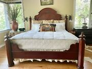 Gorgeous Antique Vintage King Bed Headboard And Footboard