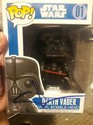 George Lucas Signed Star Wars Funko Darth Vader Pop 01 Psa Coa With Case