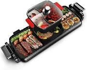 Kecop Electric Smokeless Hot Pot Grill Indoor Barbecue, 2200w 3 In 1 Large Capac