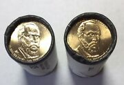2012 James A. Garfield P And D Dollar Us Mint Roll 50 1 Coins Non-circulating