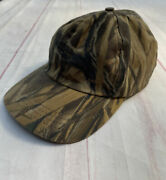 Vintage Filson Wetlands Camo Hunting Baseball Tin Cloth Leather Made In Usa Hat