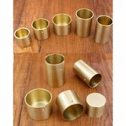 4 Pcs Round Brass Tip Cap For Table Leg Feet Cover And Sofa Foot Seal Cover