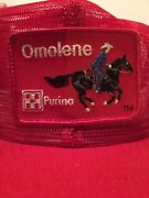 Awesome Vintage Made In Usa Omolene Purina Mesh Snapback Trucker Hat