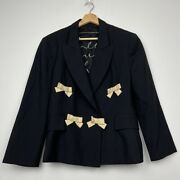 Moschino Rare Cheap And Chic Vintage Bow Wool Blazer