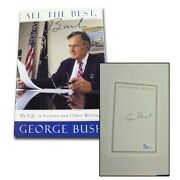 George Bush Signed Book All The Best My Life In Letters And Other Writings-jsa