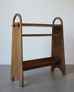 Rene Gabriel French Two Tier Table 1950and039s Rare France Mid Century Design Wood