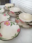 9 Pieces Vintage Franciscan Desert Rose Cup And Saucer Sets Tv And Other Hallmarks